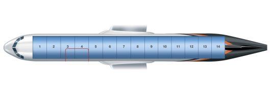 Airbus A321P2F ylhäältä
