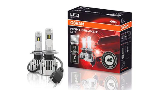 Lisävalo Osram, jälkiasennus, Night Breaker LED H7