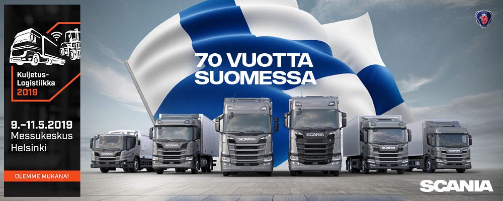Scania 70 vuotta Suomessa