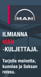 Ilmianna MAN-kuljettaja