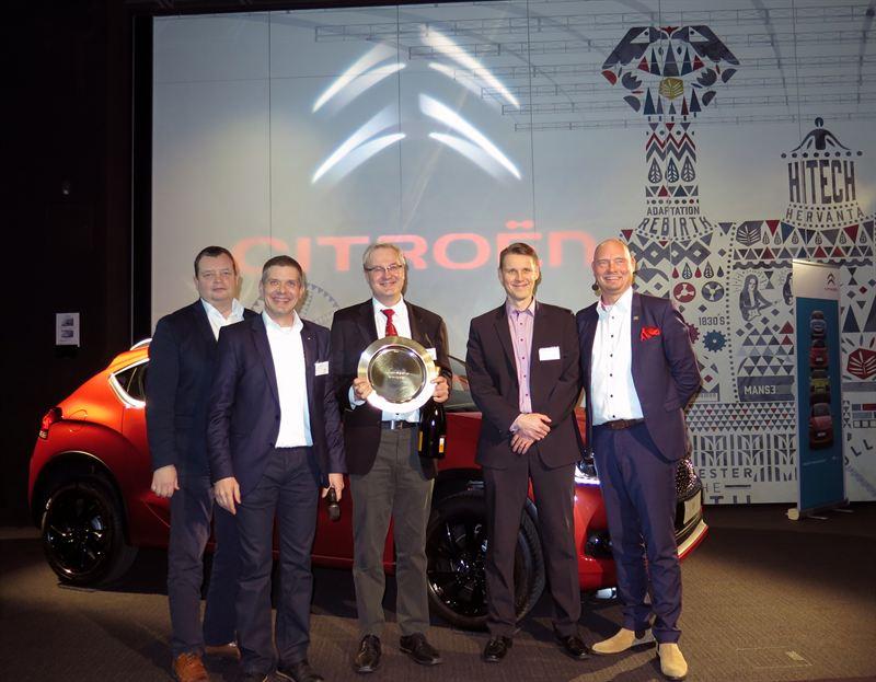 Käyttöauto Kokkola valittiin vuoden 2015 parhaaksi Citroën-jälleenmyyjäksi