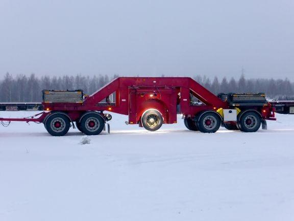 Kuorma-auton renkaan mittausperävaunu