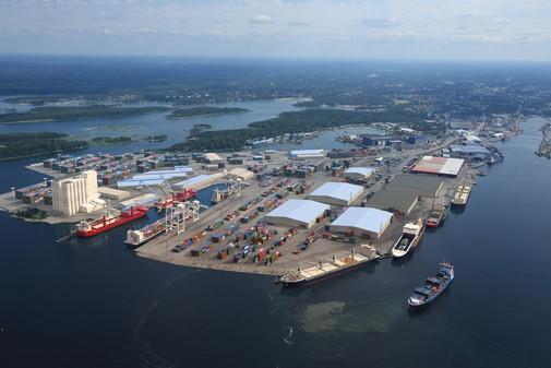 Rauman satama, kuva ylhäältä