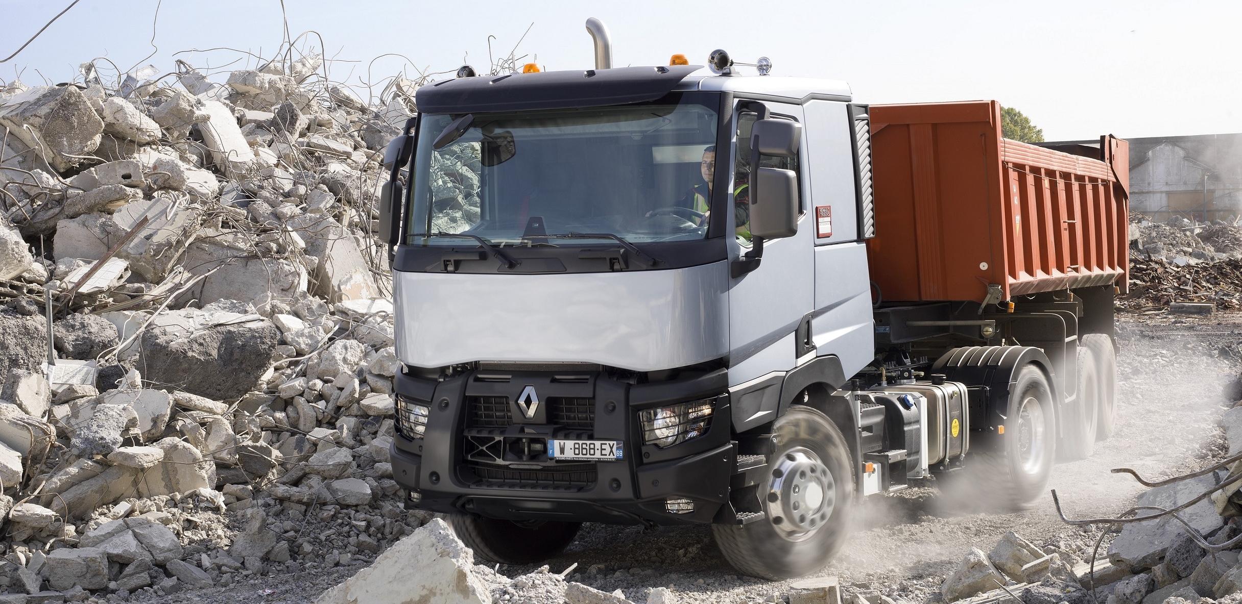 Renault Trucks C- ja K-malliston autot soveltuvat mm. maansiirtotehtäviin