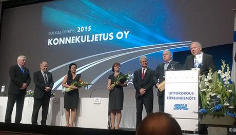 Vuoden 2015 SKAL Kuljetusyritys on Konnekuljetus Oy